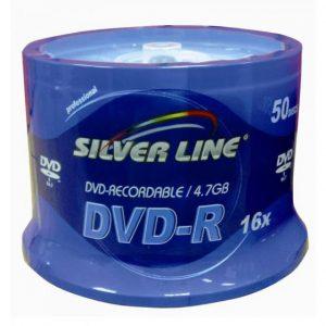 SILVER LINE CAKEX16-R DVD-R/+R 4.7GB 50-PIC
