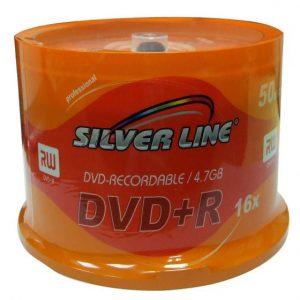 SILVER LINE CAKEX16-R DVD-R/+R 4.7GB 25 PIC